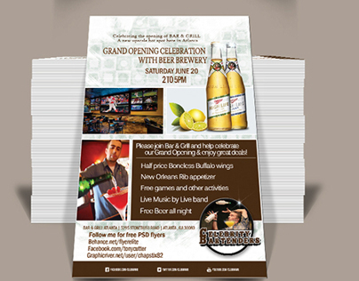 Free PSD Grand Opening Flyer (Download Now) on Behance - design a flyer free