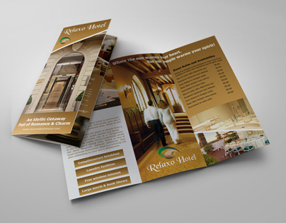 Hotel and Motel Tri-Fold Brochure Template on Behance