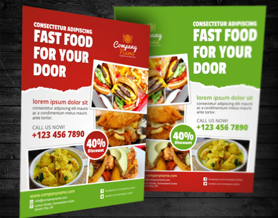 Fast Food / Restaurant Flyer Ad Template on Behance