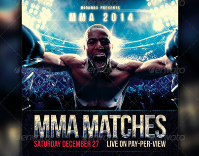 MMA / UFC / Boxing Fight Flyer Template on Behance