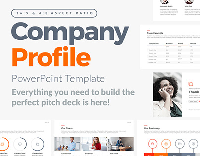 FREE POWERPOINT TEMPLATE - COMPANY PROFILE PITCH DECK on Behance