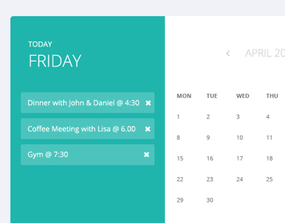 Appointment Calendar on Behance - phone message template