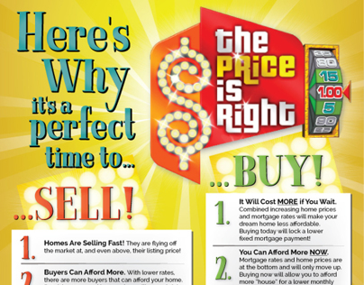 Price is Right Themed Double-Sided Flyers - Buy  Sell on Behance - selling flyer