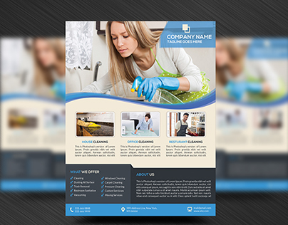 House Cleaning Service Flyer Template on Behance