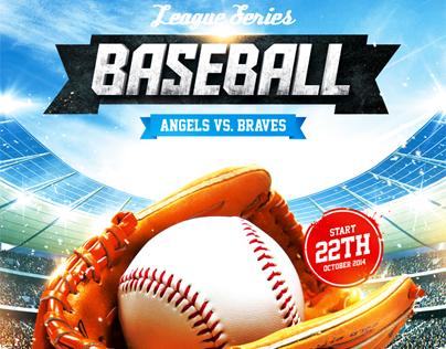 Baseball League Series Flyer, PSD Template on Behance - Baseball Flyer