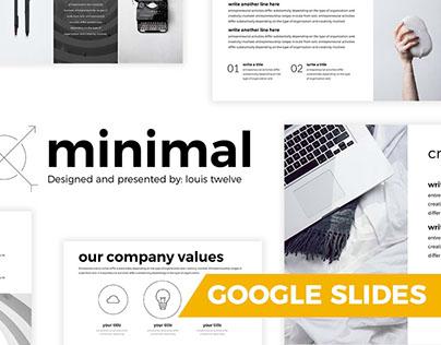 FREE MINIMAL GOOGLE SLIDES TEMPLATE - LOUIS TWELVE on Behance - google slides themes to import