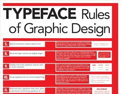 Rules of Graphic Design poster series on Behance
