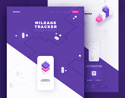 Mileage Tracker - Website  Application Design on Behance