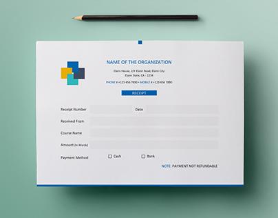 Free Simple A5 Landscape Invoice / Money Receipt Design on Behance - money receipt design