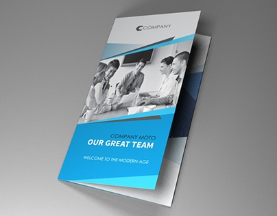 Indesign Template A4 trifold brochure triangle on Behance - trifold indesign template
