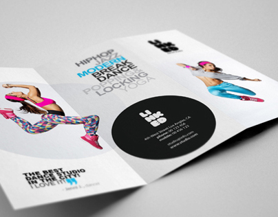 Dance Studio Brochure on Behance - studio brochure