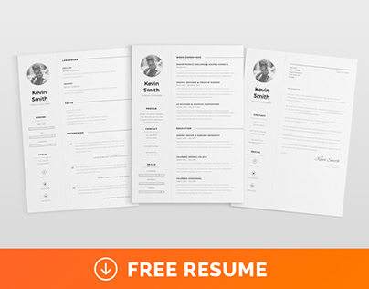FREE Clean  Minimal Resume Template on Behance - clean resume template