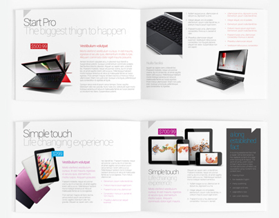 A5 Product Catalog / Brochure Template on Behance - Product Brochure Template