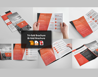 Bi-fold  Tri fold Brochure Template on Behance