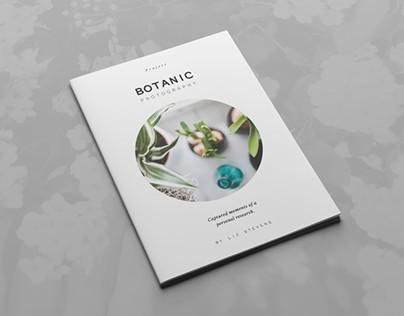 Botanic Portfolio Template on Behance - modern brochure design