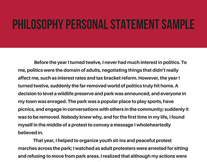 PPE Personal Statement Samples on Pantone Canvas Gallery