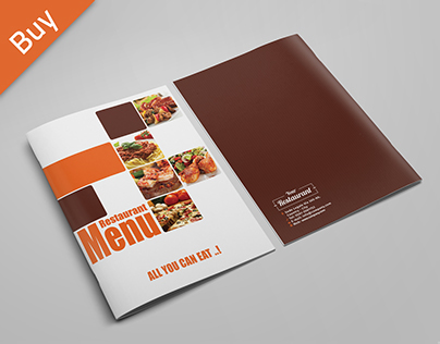 Clean Elegant Restaurant Menu Template on Behance
