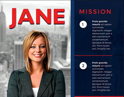 Vote Jane - 5x7 Political Flyer  Mailer Template on Behance - political brochure