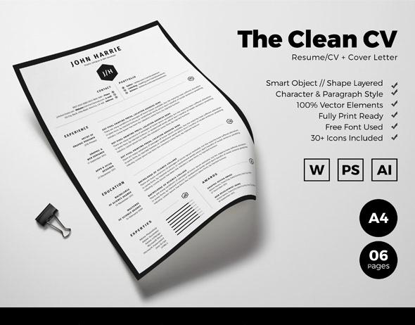 Free Resume/CV + Cover Letter on Behance