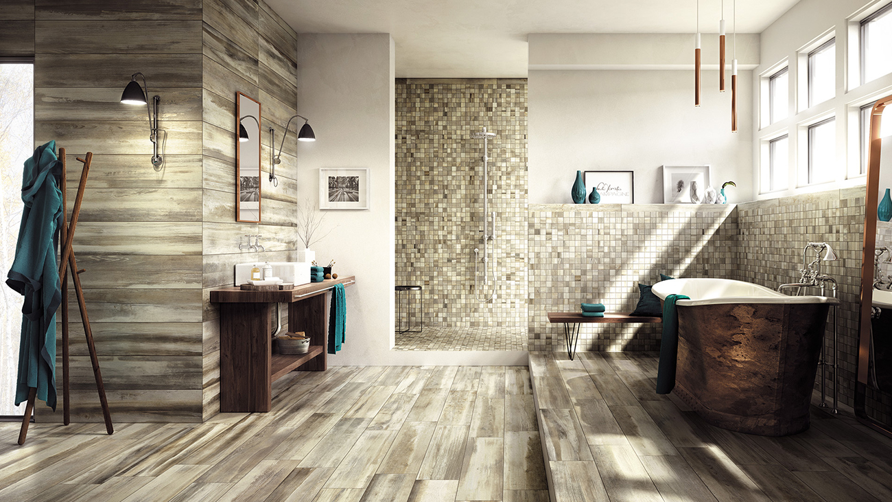 Wood Looking Tile Bathroom Choosing Wood Look Porcelain Tiles As A New Option For Bathroom