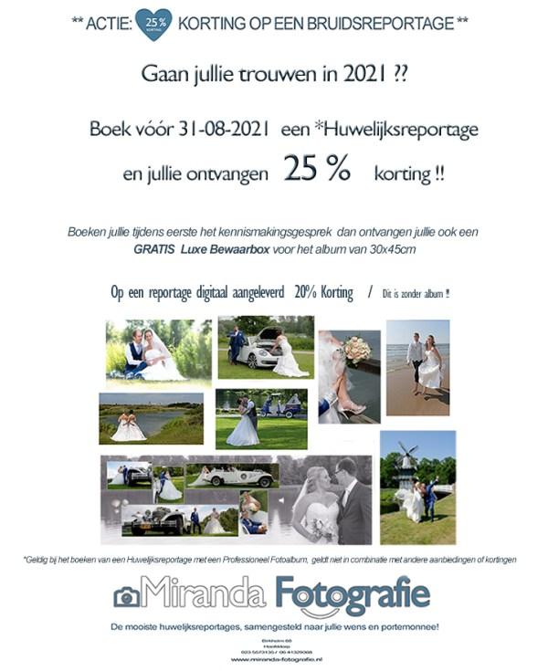 2021 augt huwelijk 25 en 10 procent