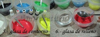 Colores y tipos de glasa