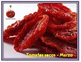 Marzo en Recetario Mañoso: Tomates secos de Caspe