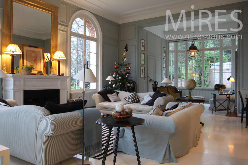 Salon De Veranda Double Salon Chic Et Lumineux. C0802 | Mires Paris