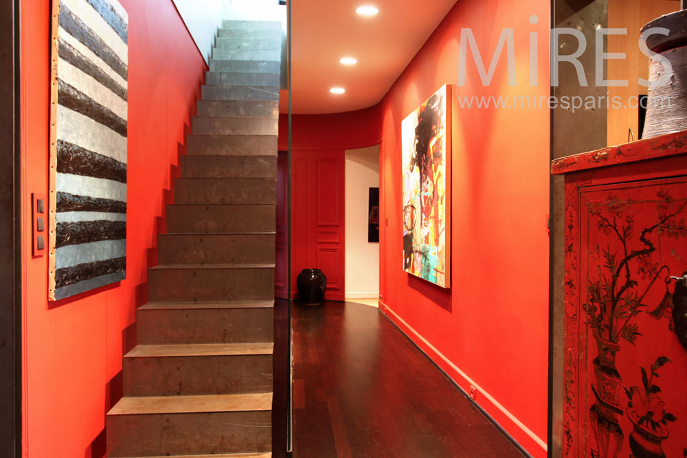 Peinture Salon Tendance Couloir Tendance Orange. C0827 | Mires Paris