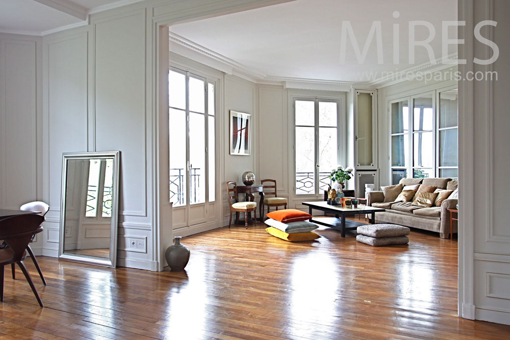 Salon Moderne Chic Salon Chic Et Cosy. C0864 | Mires Paris