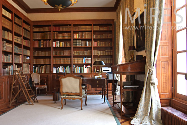 Amenagement Piece Bureau Bureau Bibliothèque. C0998 | Mires Paris