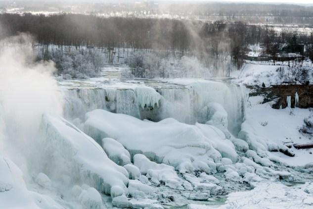 Niagara Falls Desktop Wallpaper Niagara Falls Is Nearly Frozen Solid Youviewed Editorial