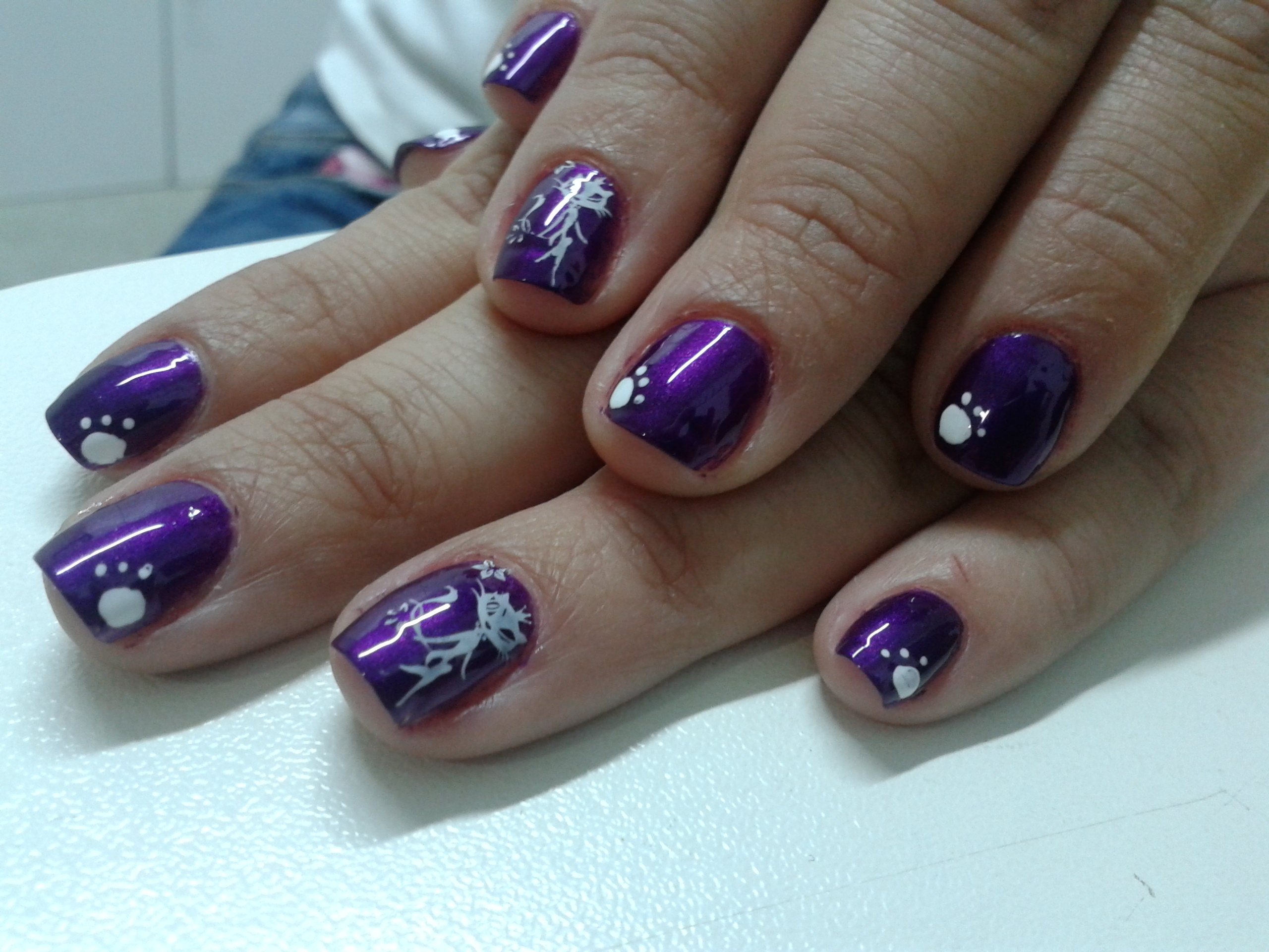 Uñas De Gel Decoradas Con Flores Manicura Casera En Color Orchid Miriam Dream Nails