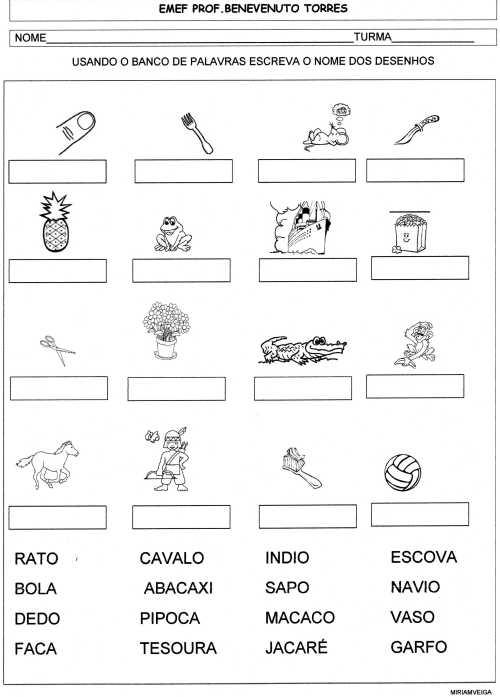 banco de palavras-figuras