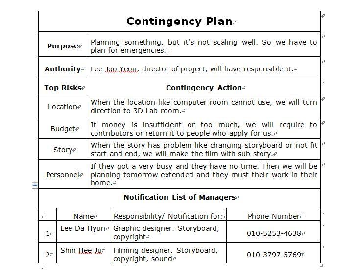contingency plan examples | nfgaccountability.com