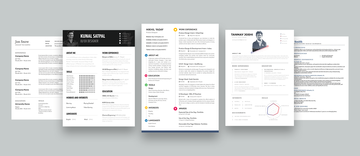Graphic Design Resume Tips How To Design Your Own Resume - Ux Collective