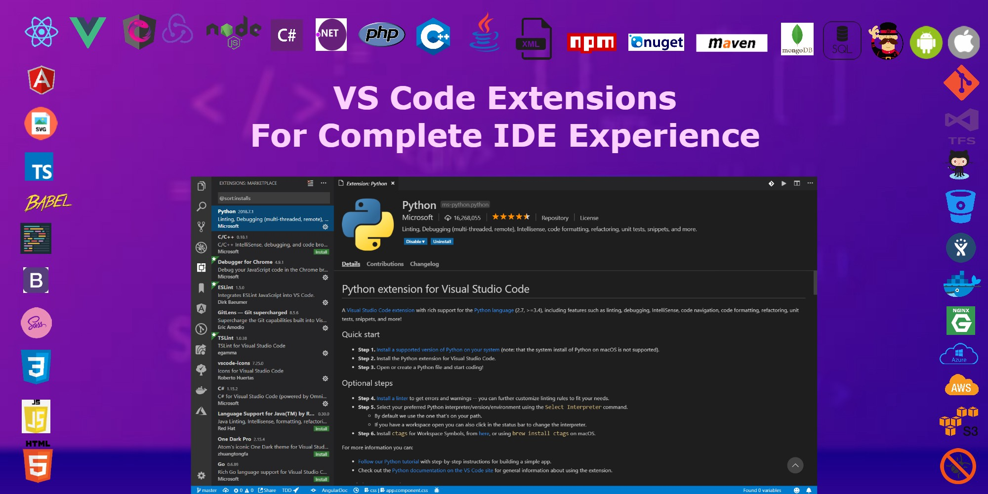 Vs Code Select Line Shortcut Vs Code Extensions For Near Ide Experience Saurabh
