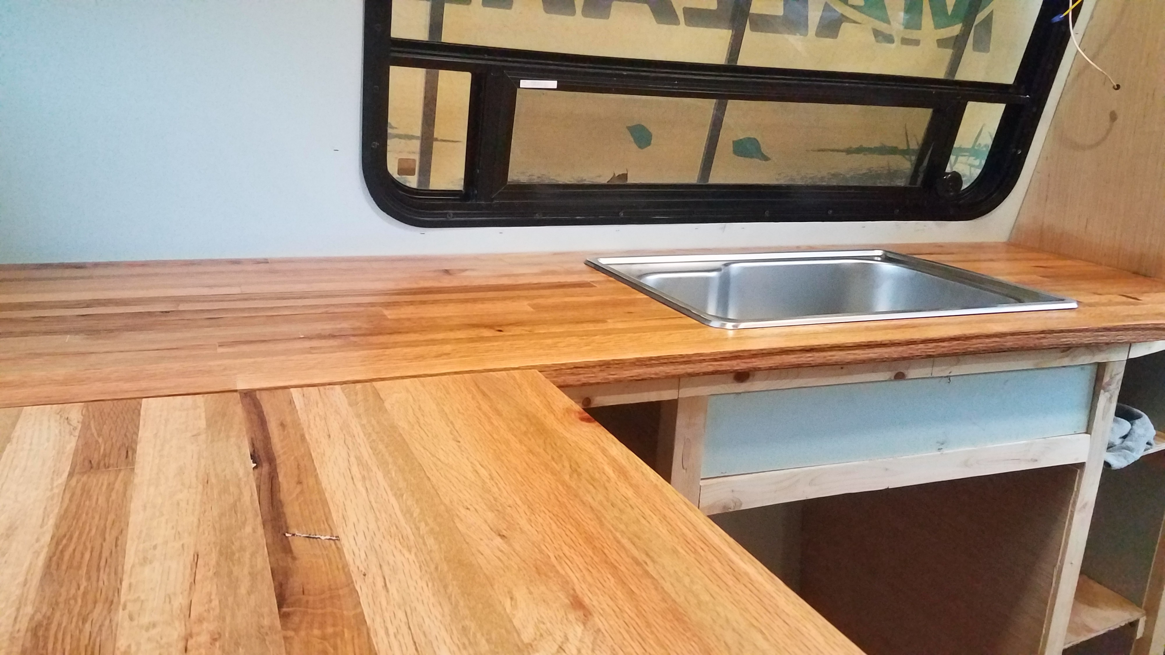 Diy Reclaimed Butcher Block Countertop By Samantha Goodwin Medium