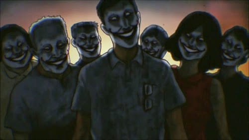 zombies con cara de jokers