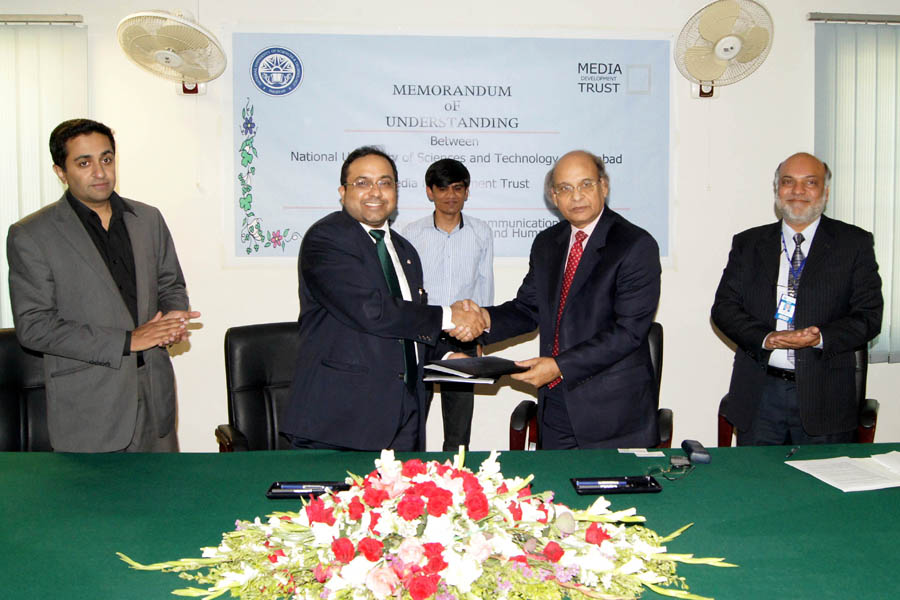 Media Development Trust and NUST sign MOU to improve Media Ethical Practices in Pakistan.