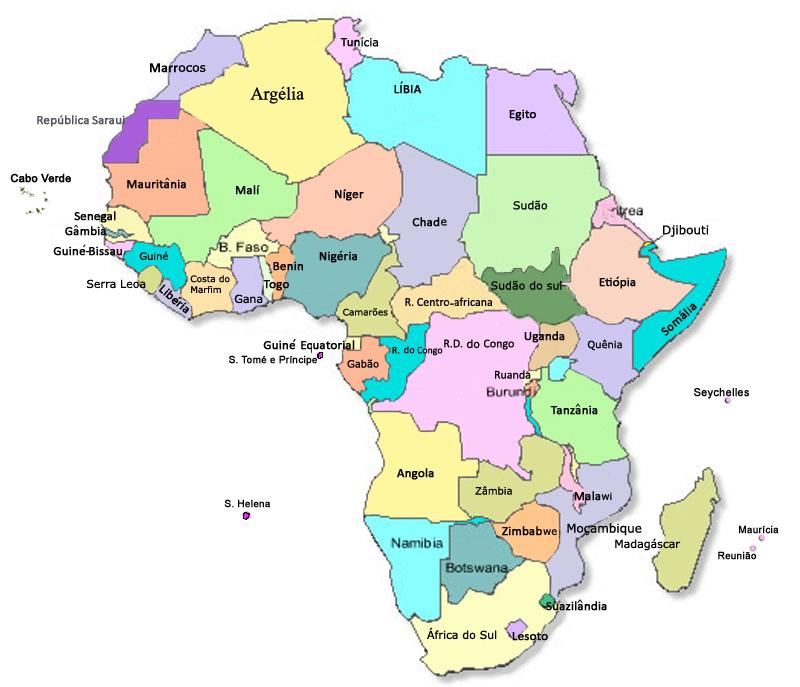 Mapa atualizado da África misosoafricapt