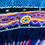 vintage levi levis denim embellish embellished ibiza colour colorful hippe gypsy purple ethnic