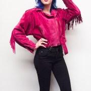 pink fringe jacket vintage cowgirl cowboy leather jacket musthave pinklover fashion