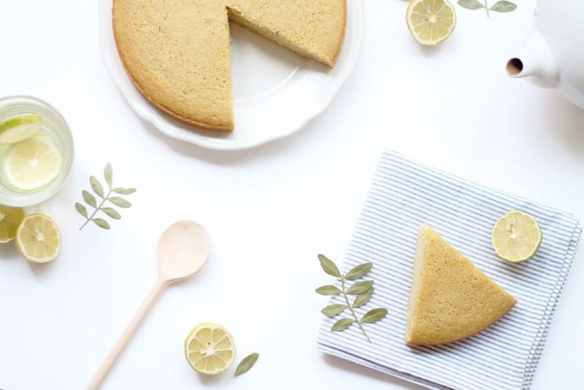 Gâteau au yaourt sans gluten (avec du citron vert et de la fleur d'oranger dedans) - Miss Blemish