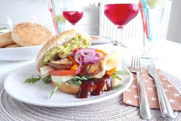 Burger vegetarisch Mädelsabend Fol Epi MissBonnebonne Guacamole