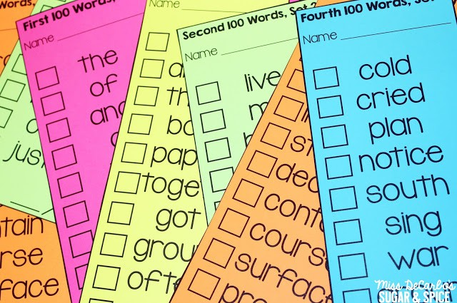 Assessing and Differentiating Sight Word Recognition - Miss DeCarbo