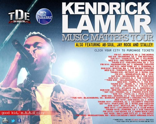 kendrick lamar music matters tour