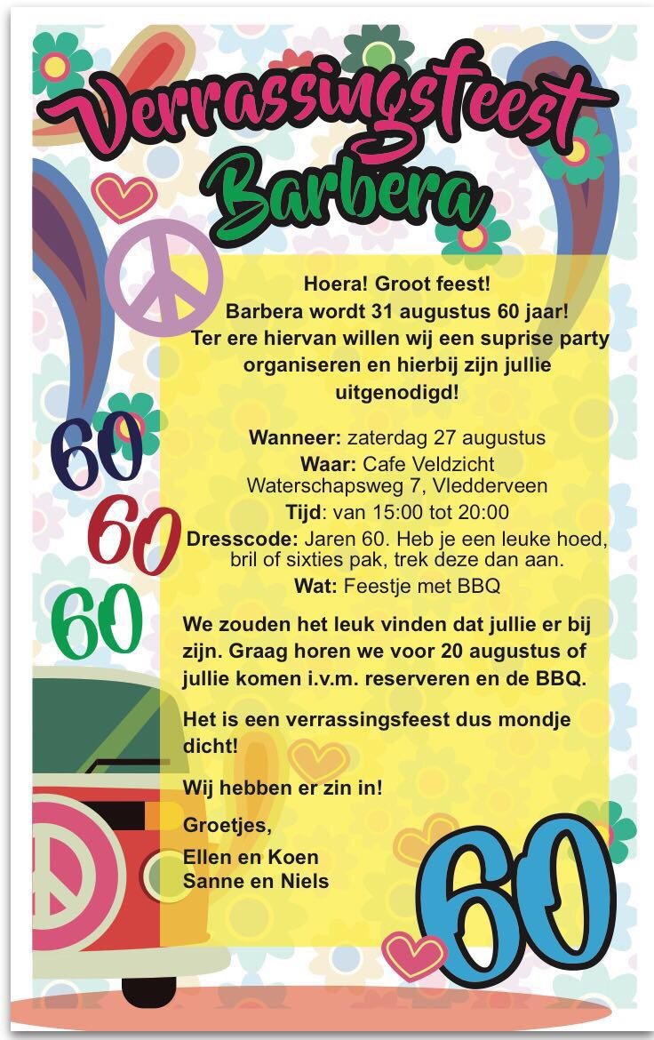 Party Organiseren Surprise Party Misseightysix