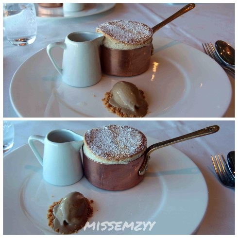 Chocolate and praline souffle