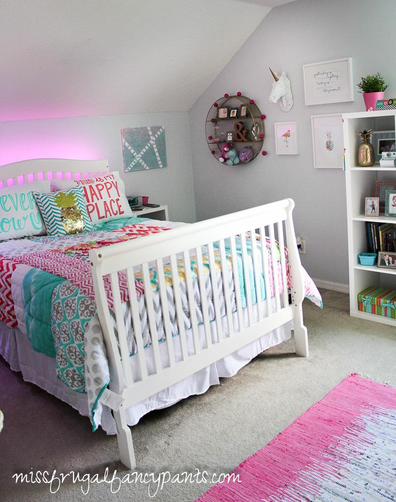 colorful tween bedroom lighting miss frugal fancy pants